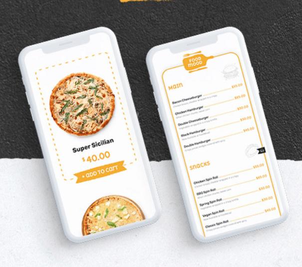 tema foodmood su smartphone