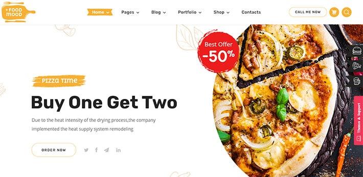 tema wordpress per ristoranti foodmood