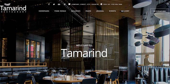 tema wordpress per ristoranti tamarind