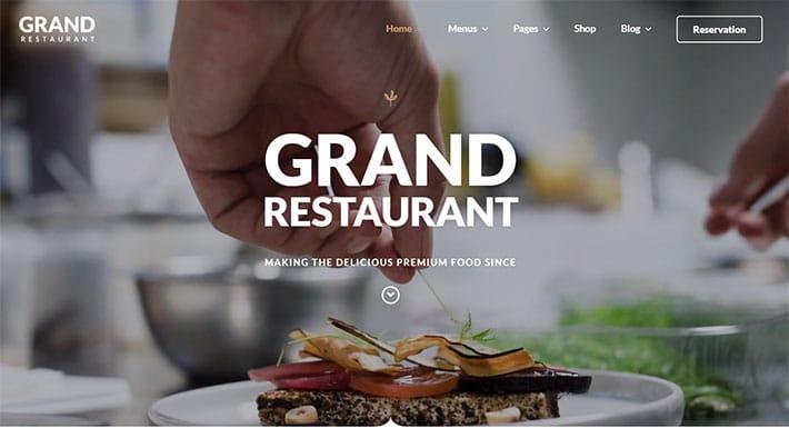 tema wordpress grand restaurant